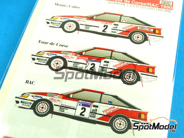 Image 2: Toyota Celica GT Four ST165 Repsol - Great Britain RAC Rally, Montecarlo Rally - Rallye Automobile de Monte-Carlo, Tour de Corse 1990 | Marking / livery in 1/24 scale manufactured by Studio27 (ref. ST27-DC1046)