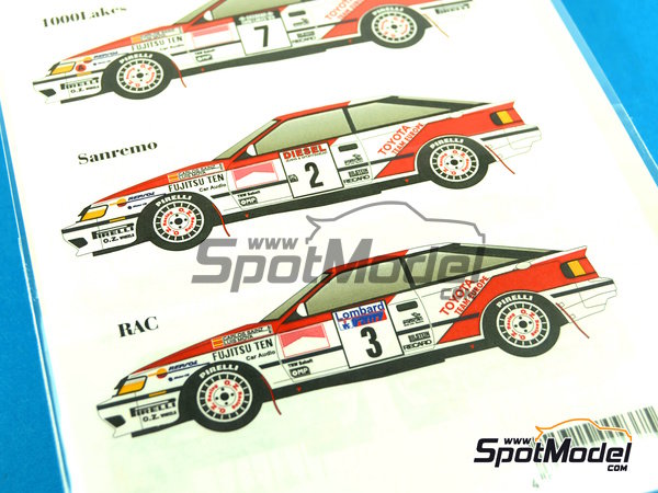 Image 1: Toyota Celica GT Four ST165 Repsol Marlboro - 1000 Lakes Finland Rally, Sanremo Rally 1989   Decals in 1/24 scale manufactured by Studio27 (ref.ST27-DC1047)