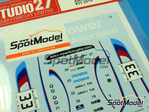 Image 5: BMW Z4 GT3 Roal Motorsport - GT FIA World Championship 2014 | Marking / livery in 1/24 scale manufactured by Studio27 (ref.ST27-DC1050)