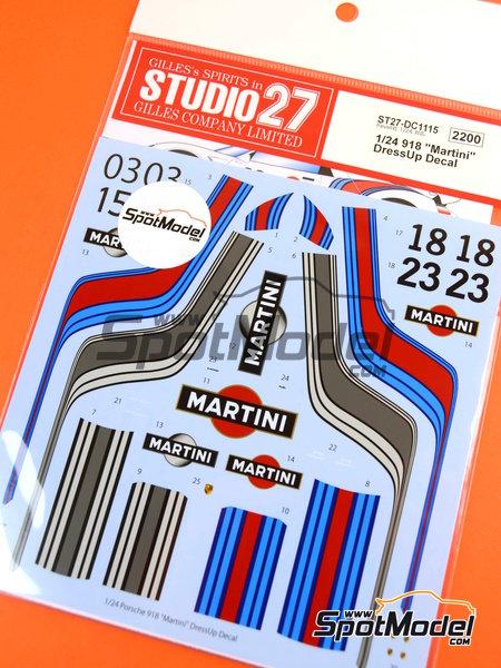studio27 decals 1 24 scale porsche 918 spyder martini 03 15 18 23 fo. Black Bedroom Furniture Sets. Home Design Ideas