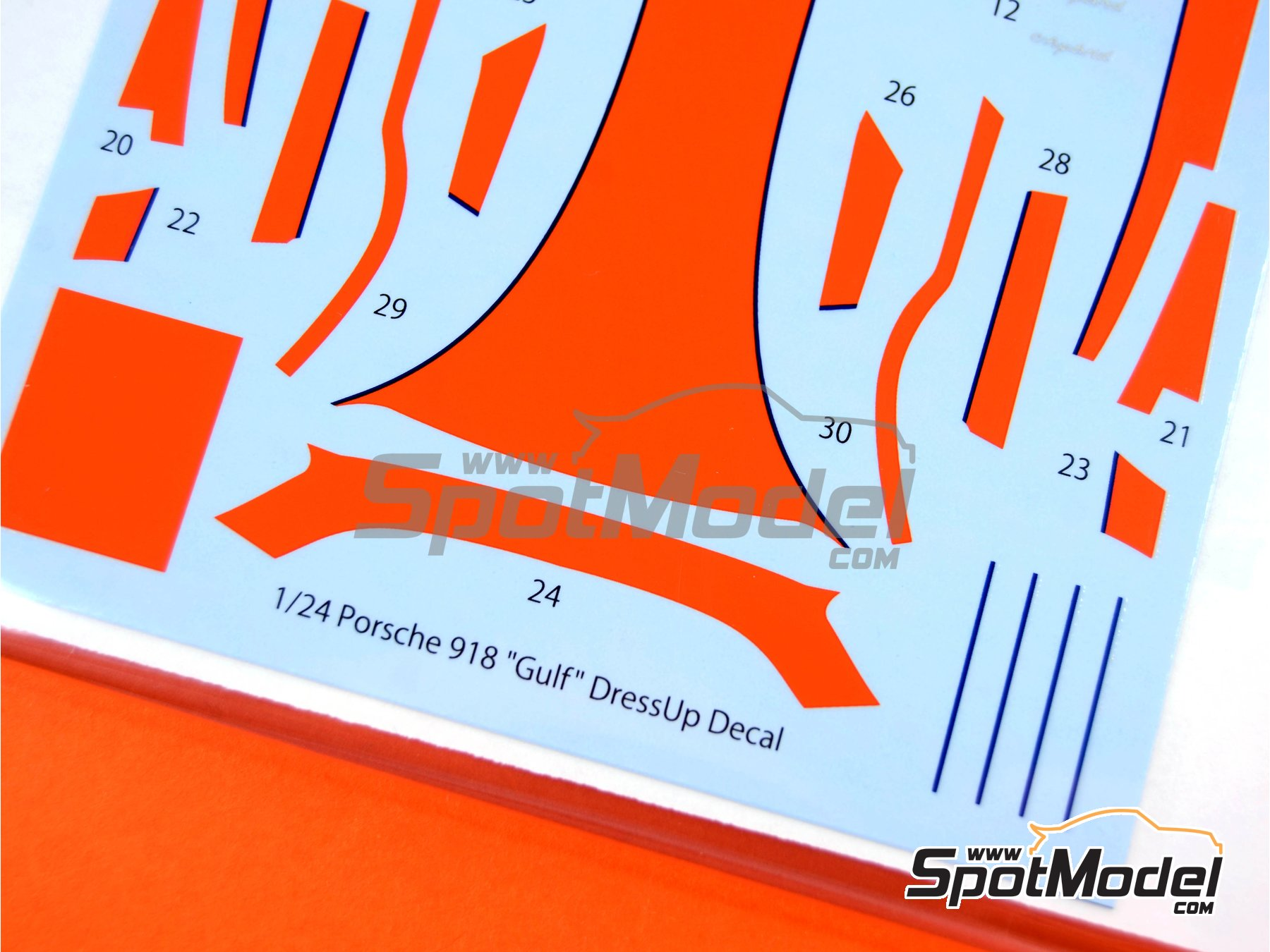Image 6: Porsche 918 Spyder Gulf | Marking / livery in 1/24 scale manufactured by Studio27 (ref. ST27-DC1116)