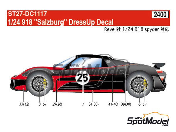 Image 1: Porsche 918 Spyder Salzburg | Marking / livery in 1/24 scale manufactured by Studio27 (ref. ST27-DC1117)