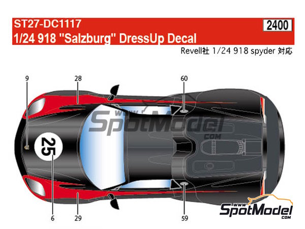 Image 2: Porsche 918 Spyder Salzburg | Marking / livery in 1/24 scale manufactured by Studio27 (ref. ST27-DC1117)