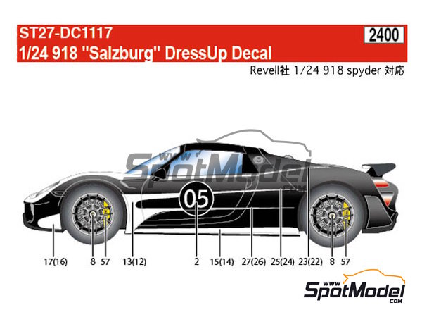 Image 4: Porsche 918 Spyder Salzburg | Marking / livery in 1/24 scale manufactured by Studio27 (ref. ST27-DC1117)