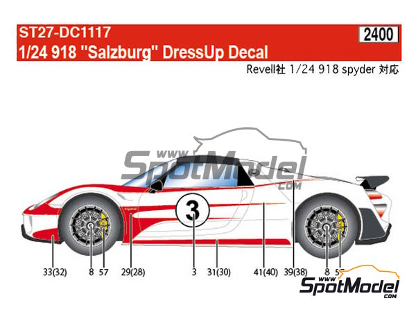 Image 7: Porsche 918 Spyder Salzburg | Marking / livery in 1/24 scale manufactured by Studio27 (ref. ST27-DC1117)