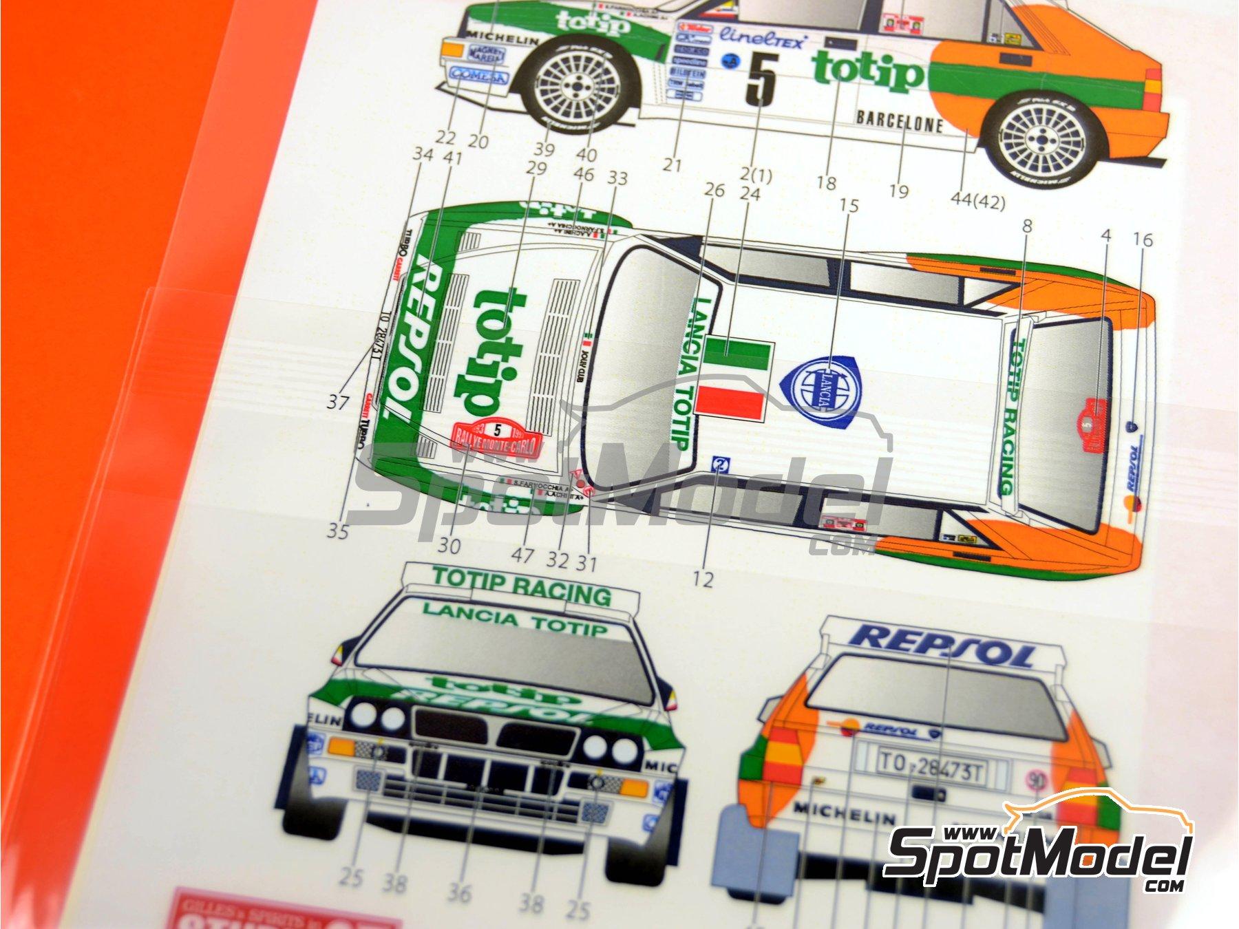 Image 2: Lancia Super Delta Deltona HF Totip - Rally de Montecarlo - Rallye Automobile de Monte-Carlo 1993 | Decoración en escala1/24 fabricado por Studio27 (ref.ST27-DC1118)