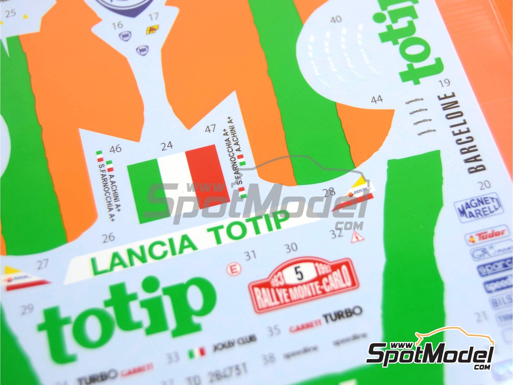 Image 5: Lancia Super Delta Deltona HF Totip - Rally de Montecarlo - Rallye Automobile de Monte-Carlo 1993 | Decoración en escala1/24 fabricado por Studio27 (ref.ST27-DC1118)