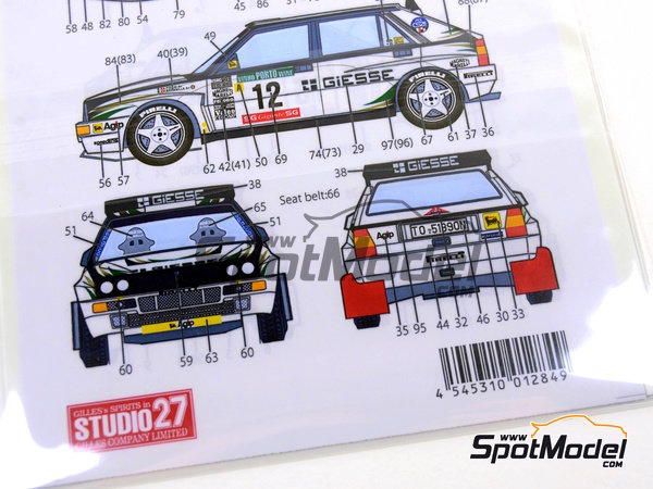 Image 9: Lancia Super Delta Deltona HF Integrale ASTRA - 1000 Lakes Finland Rally, Portugal Rally 1993 | Marking / livery in 1/24 scale manufactured by Studio27 (ref. ST27-DC1125)
