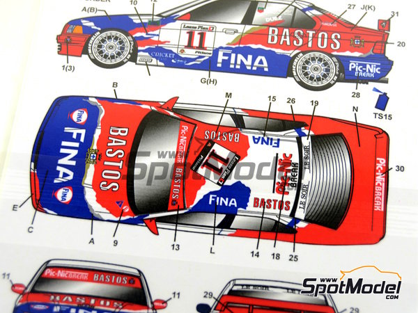 Image 7: BMW 318i Fina Bastos -  1996 | Marking / livery in 1/24 scale manufactured by Studio27 (ref. ST27-DC1126)