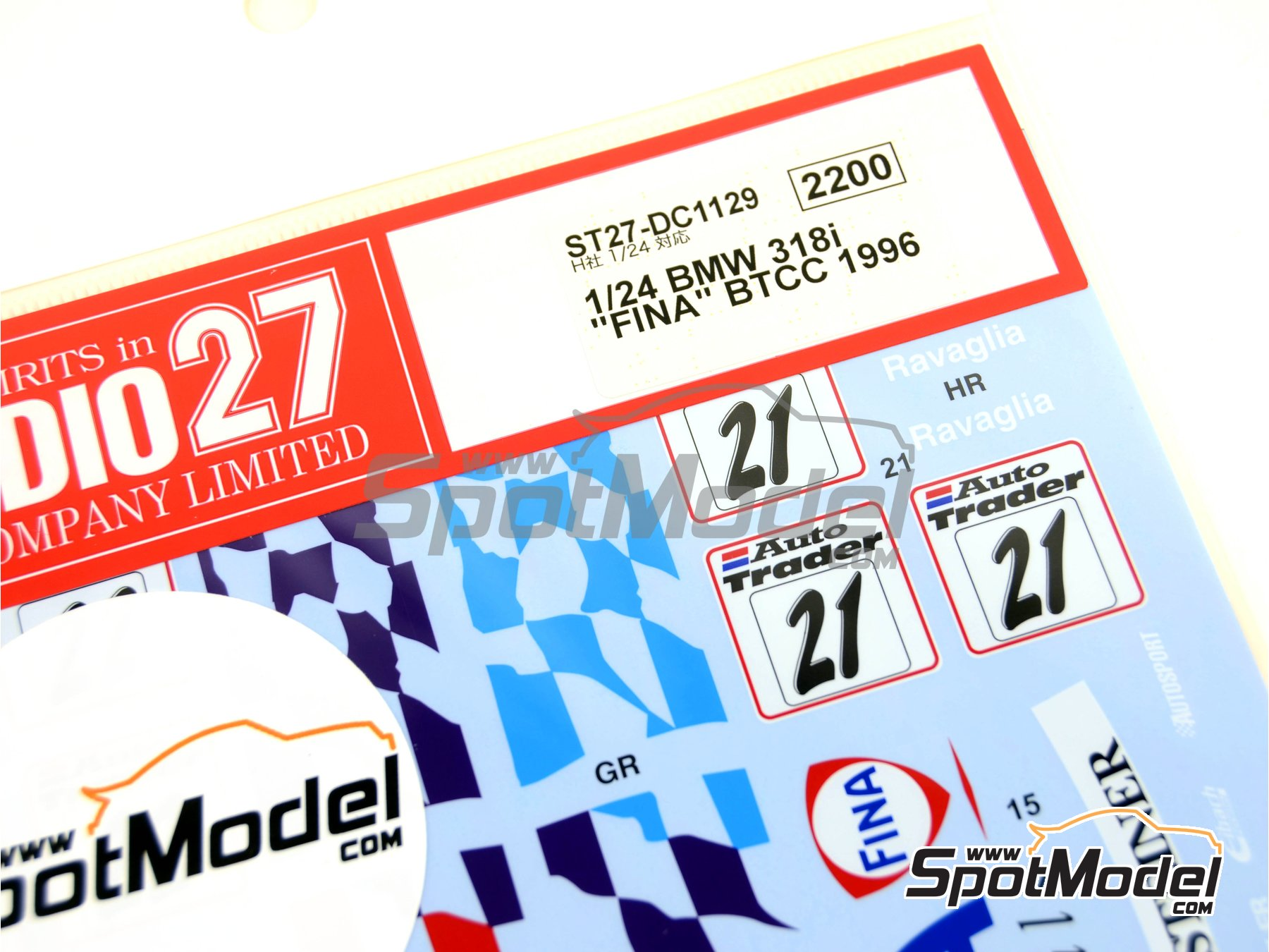 Image 4: BMW 318i Fina - British Touring Car Championship (BTCC) 1996 | Marking / livery in 1/24 scale manufactured by Studio27 (ref.ST27-DC1129)
