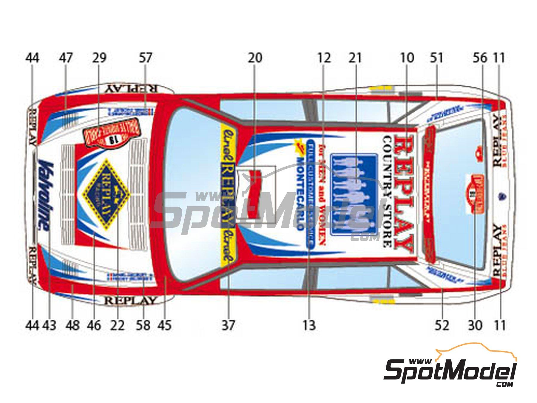 Image 2: Lancia Super Delta Valvoline - Rally de Montecarlo 1996 | Decoración en escala1/24 fabricado por Studio27 (ref.ST27-DC1132)