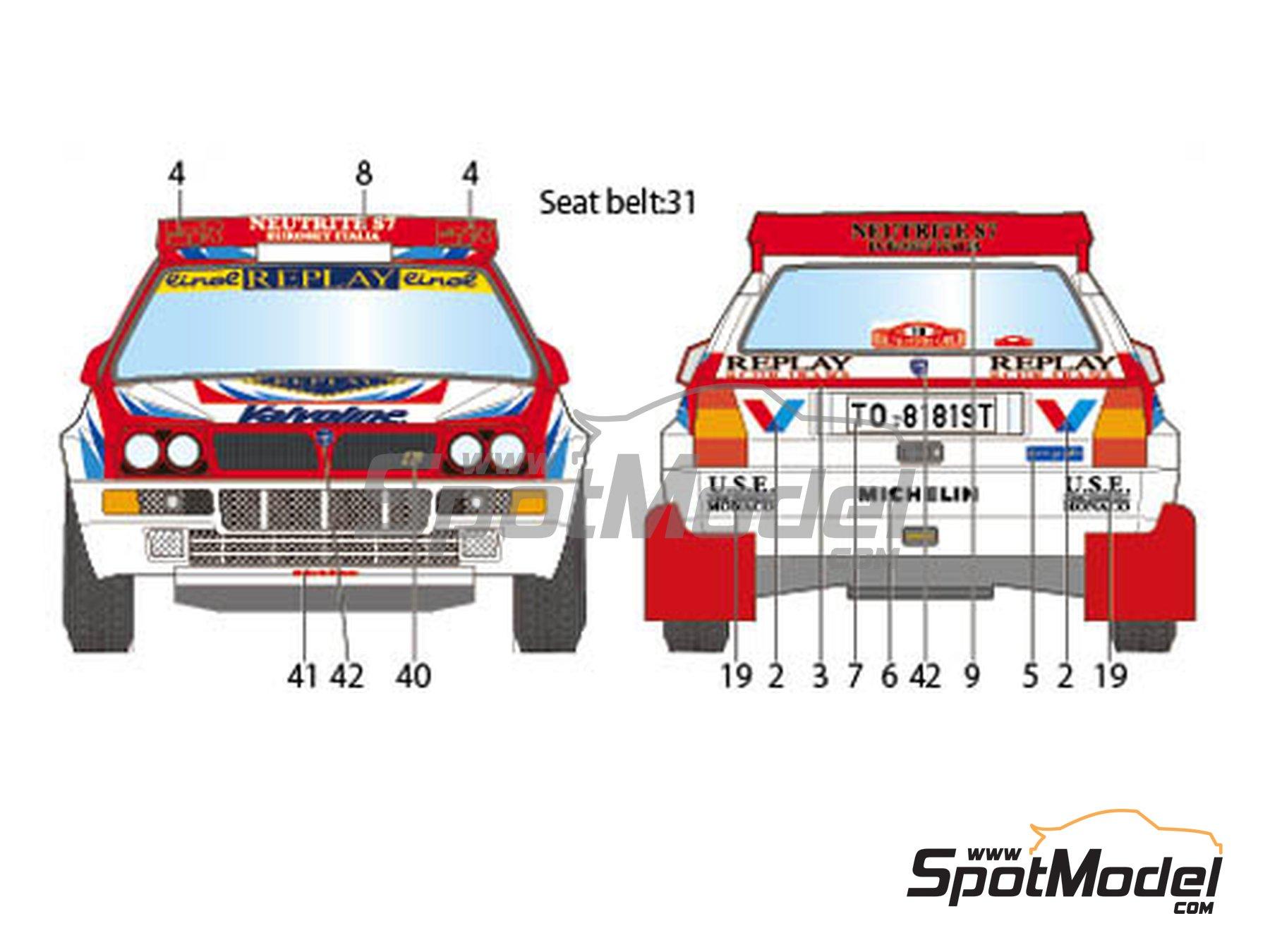 Image 3: Lancia Super Delta Valvoline - Rally de Montecarlo 1996 | Decoración en escala1/24 fabricado por Studio27 (ref.ST27-DC1132)