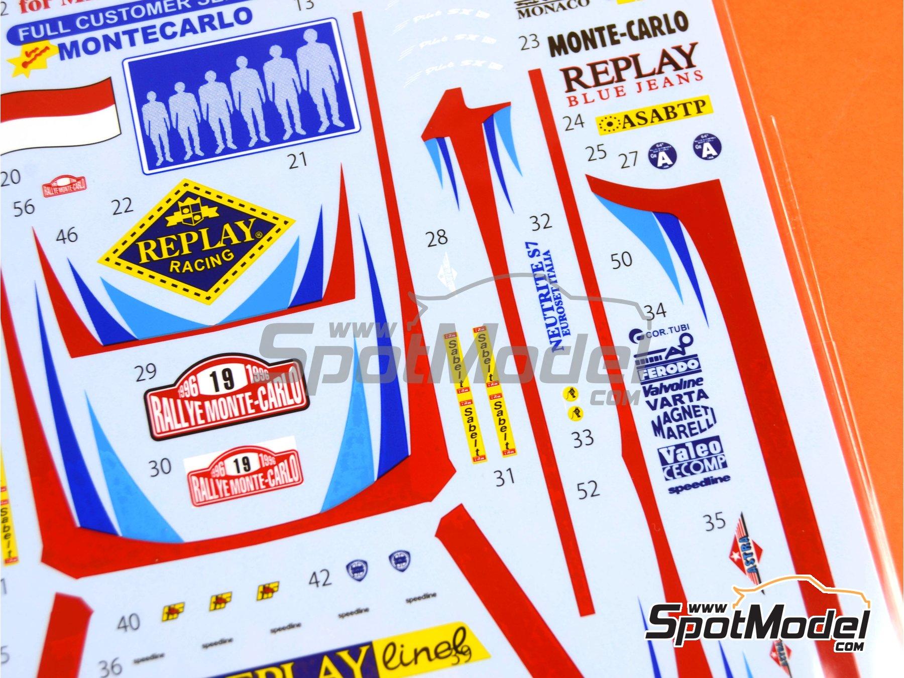 Image 7: Lancia Super Delta Valvoline - Rally de Montecarlo 1996 | Decoración en escala1/24 fabricado por Studio27 (ref.ST27-DC1132)