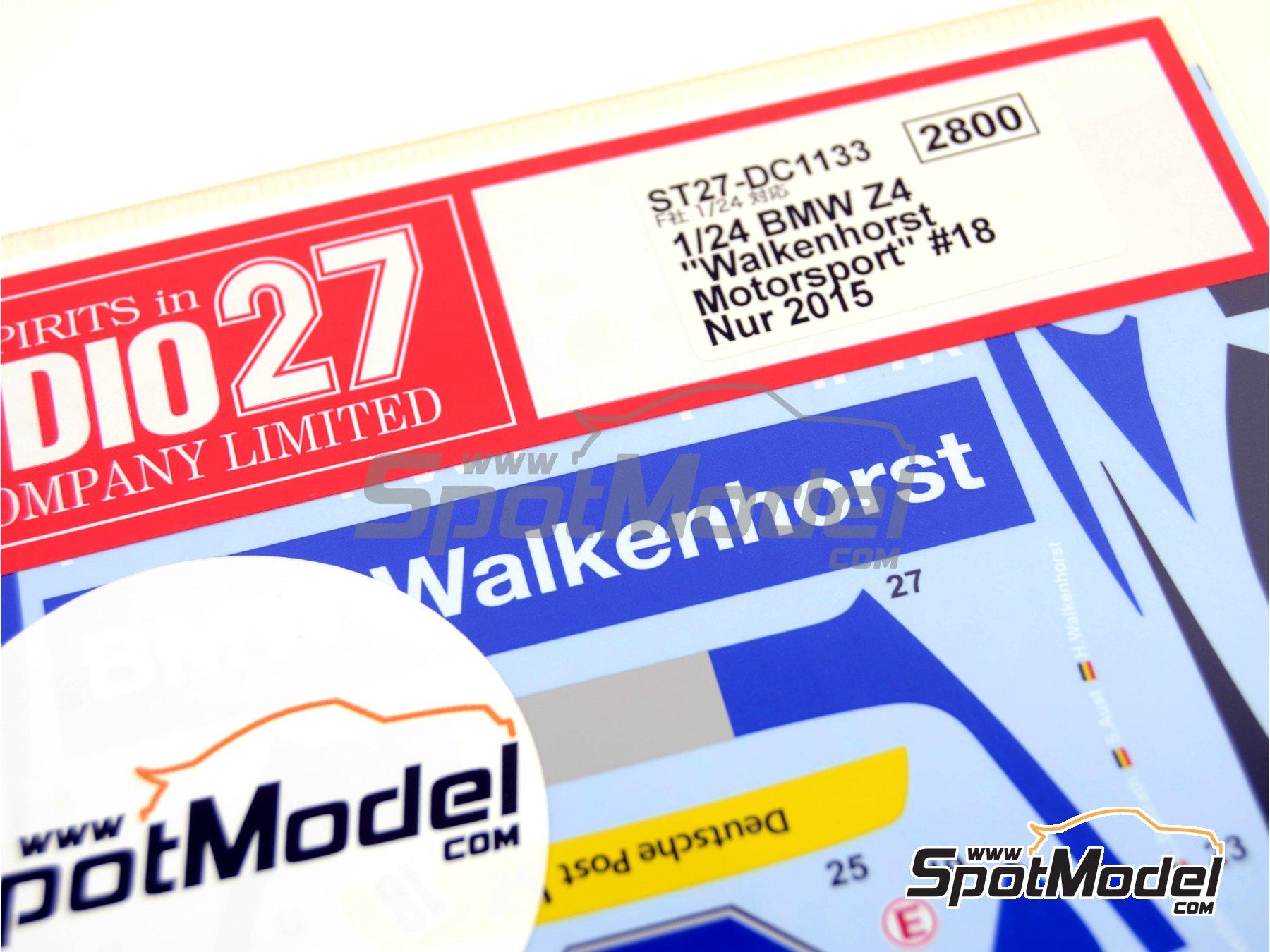 Image 5: BMW Z4 GT3 Walkenhorst Mortorsport - 24 Hours Nürburgring 2015 | Marking / livery in 1/24 scale manufactured by Studio27 (ref.ST27-DC1133)