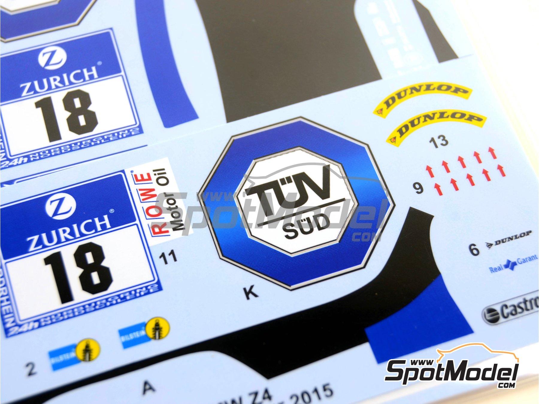 Image 8: BMW Z4 GT3 Walkenhorst Mortorsport - 24 Hours Nürburgring 2015 | Marking / livery in 1/24 scale manufactured by Studio27 (ref.ST27-DC1133)