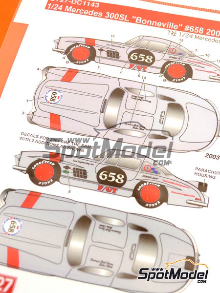 Mercedes-Benz 300SL Lyco Engineering, Inc. - Bonneville Speedway 2003 and 2004 | Marking / livery in 1/24 scale manufactured by Studio27 (ref. ST27-DC1143) image