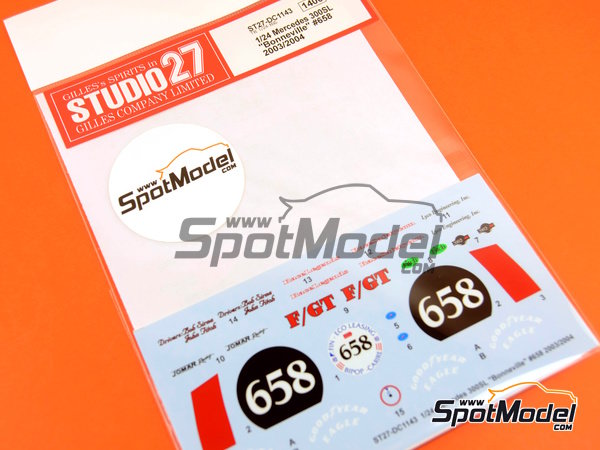 Image 1: Mercedes-Benz 300SL Lyco Engineering, Inc. - Bonneville Speedway 2003 and 2004 | Marking / livery in 1/24 scale manufactured by Studio27 (ref. ST27-DC1143)