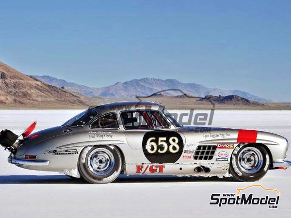 Image 6: Mercedes-Benz 300SL Lyco Engineering, Inc. - Bonneville Speedway 2003 and 2004 | Marking / livery in 1/24 scale manufactured by Studio27 (ref. ST27-DC1143)
