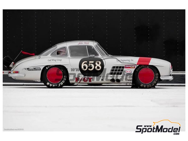 Image 8: Mercedes-Benz 300SL Lyco Engineering, Inc. - Bonneville Speedway 2003 and 2004 | Marking / livery in 1/24 scale manufactured by Studio27 (ref. ST27-DC1143)