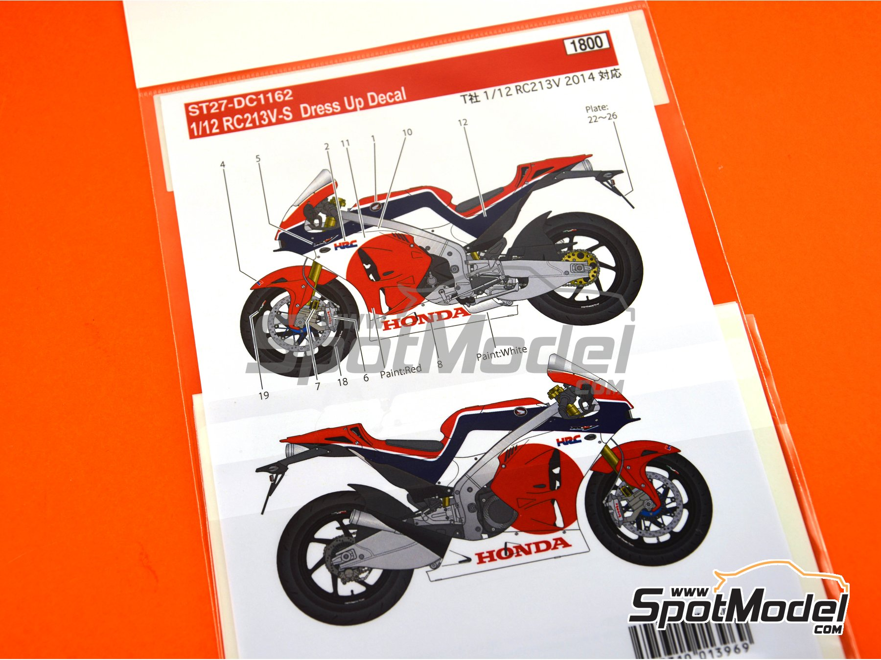 Image 5: Honda RC213V-S | Marking / livery in 1/12 scale manufactured by Studio27 (ref. ST27-DC1162)