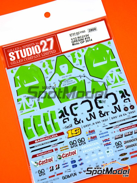 Honda RC213V - World Championship 2014 | Marking / livery in 1/12 scale manufactured by Studio27 (ref. ST27-DC1163) image