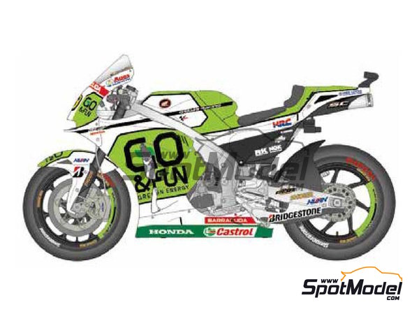 Image 1: Honda RC213V Gresini Racing - Motorcycle World Championship 2014 | Marking / livery in 1/12 scale manufactured by Studio27 (ref. ST27-DC1163)