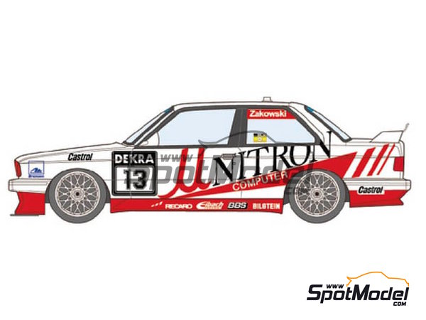 Image 1: BMW M3 E30 Unitron Computer - DTM 1991 | Marking / livery in 1/24 scale manufactured by Studio27 (ref. ST27-DC1174)