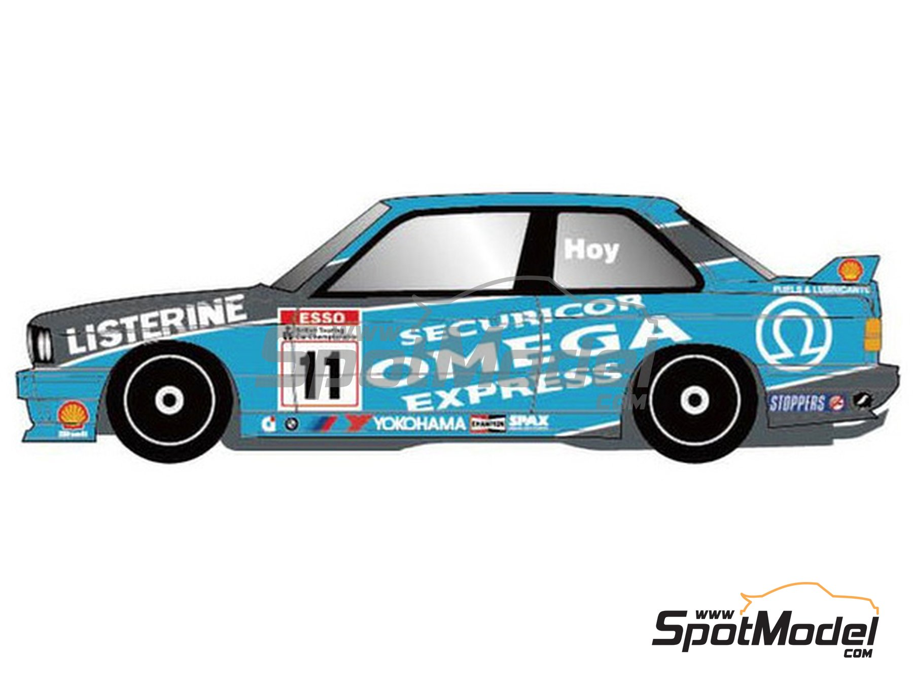 Image 1: BMW M3 E30 Team Listerine - British Touring Car Championship - BTCC 1991 | Marking / livery in 1/24 scale manufactured by Studio27 (ref. ST27-DC1176)