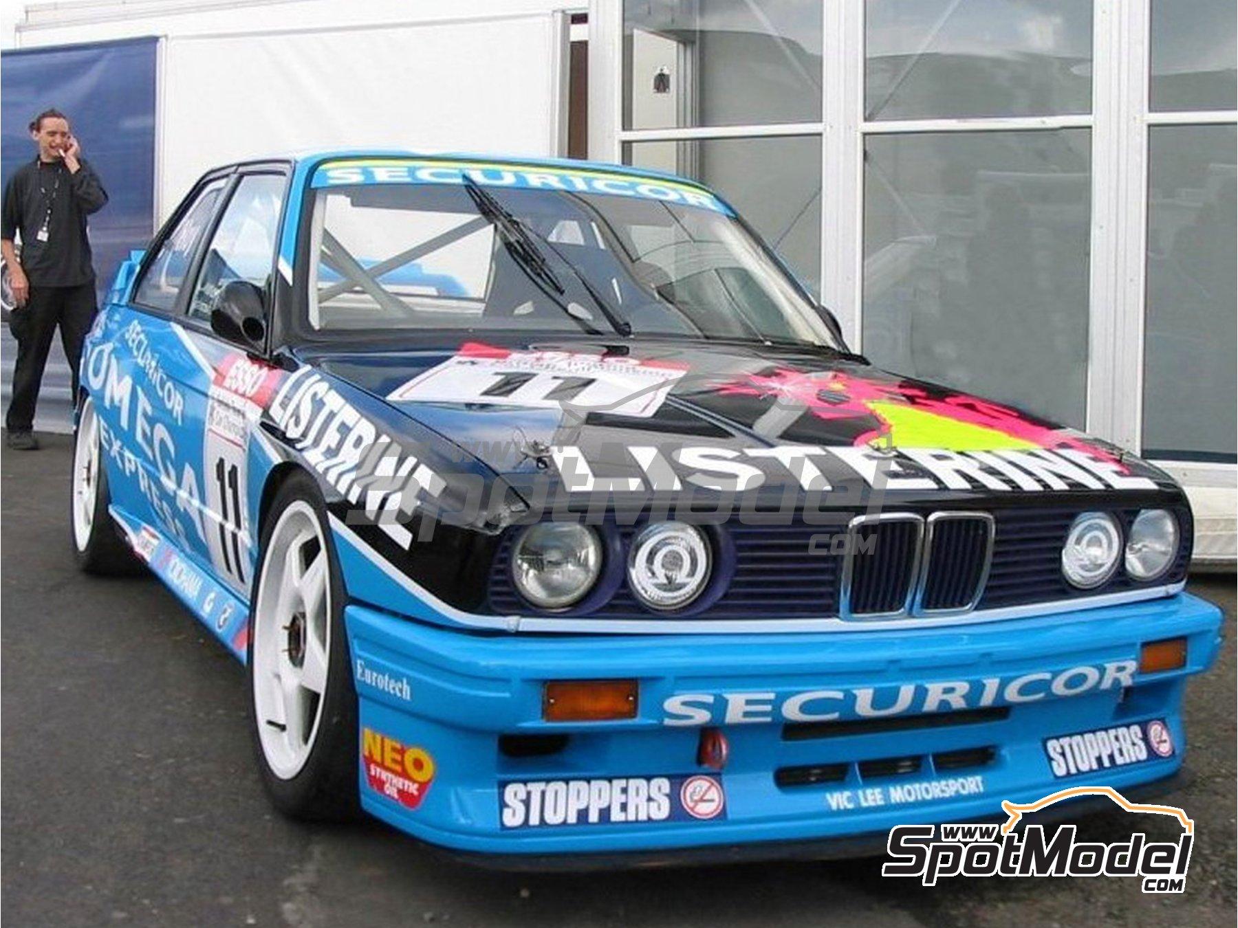 Image 2: BMW M3 E30 Team Listerine - Campeonato Inglés de Turismos - BTCC 1991 | Decoración en escala1/24 fabricado por Studio27 (ref.ST27-DC1176)