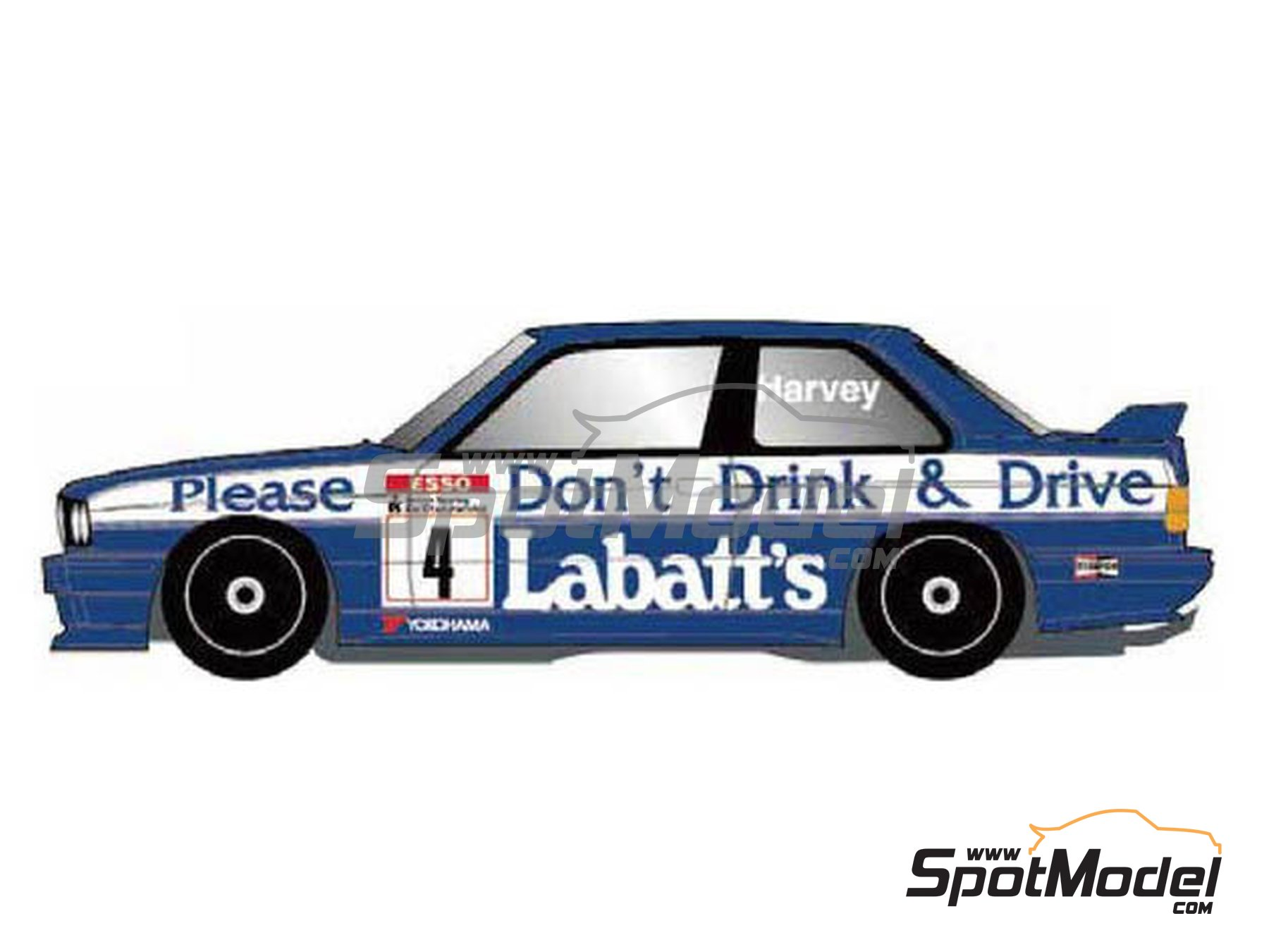 Image 1: BMW M3 E30 Labatt's - British Touring Car Championship - BTCC 1991 | Marking / livery in 1/24 scale manufactured by Studio27 (ref. ST27-DC1178)