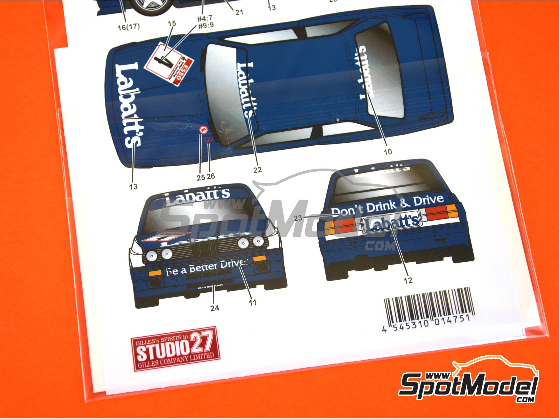 Image 3: BMW M3 E30 Labatt's - British Touring Car Championship - BTCC 1991 | Marking / livery in 1/24 scale manufactured by Studio27 (ref. ST27-DC1178)
