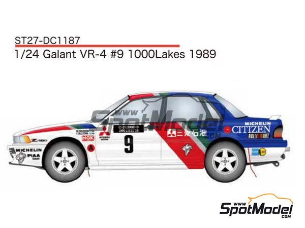 Image 1: Mitsubishi Galant VR-4 Citizen - 1000 Lakes Finland Rally 1989 | Marking / livery in 1/24 scale manufactured by Studio27 (ref. ST27-DC1187)