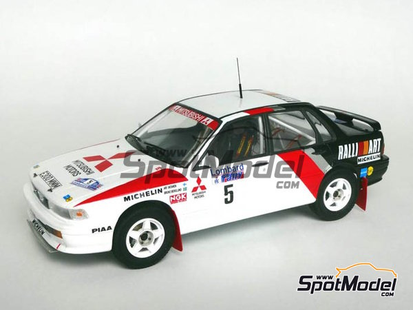 Image 2: Mitsubishi Galant VR-4 - RAC Rally 1988 | Marking / livery in 1/24 scale manufactured by Studio27 (ref. ST27-DC1188)