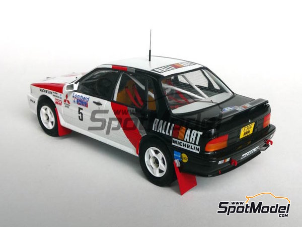 Image 3: Mitsubishi Galant VR-4 Ralli Art - Great Britain RAC Rally 1988 | Marking / livery in 1/24 scale manufactured by Studio27 (ref. ST27-DC1188)