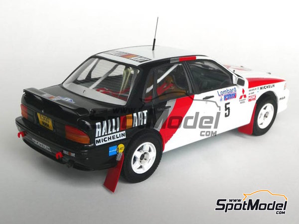 Image 5: Mitsubishi Galant VR-4 Ralli Art - Great Britain RAC Rally 1988 | Marking / livery in 1/24 scale manufactured by Studio27 (ref. ST27-DC1188)
