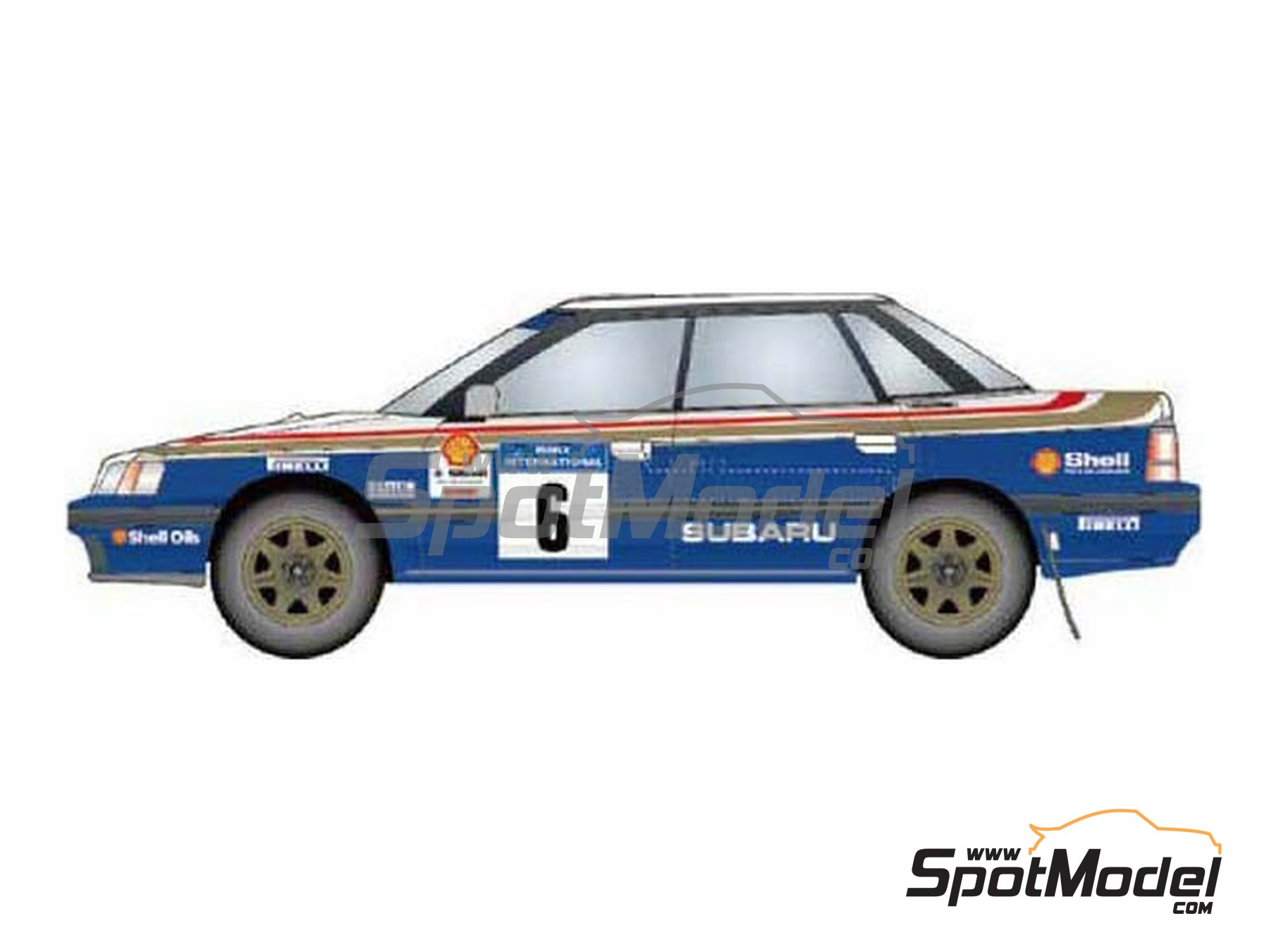 Image 1: Subaru Legacy RS Rothmans Subaru UK Rally Team - Rally Internacional de Manx 1991 | Decoración en escala1/24 fabricado por Studio27 (ref.ST27-DC1190)