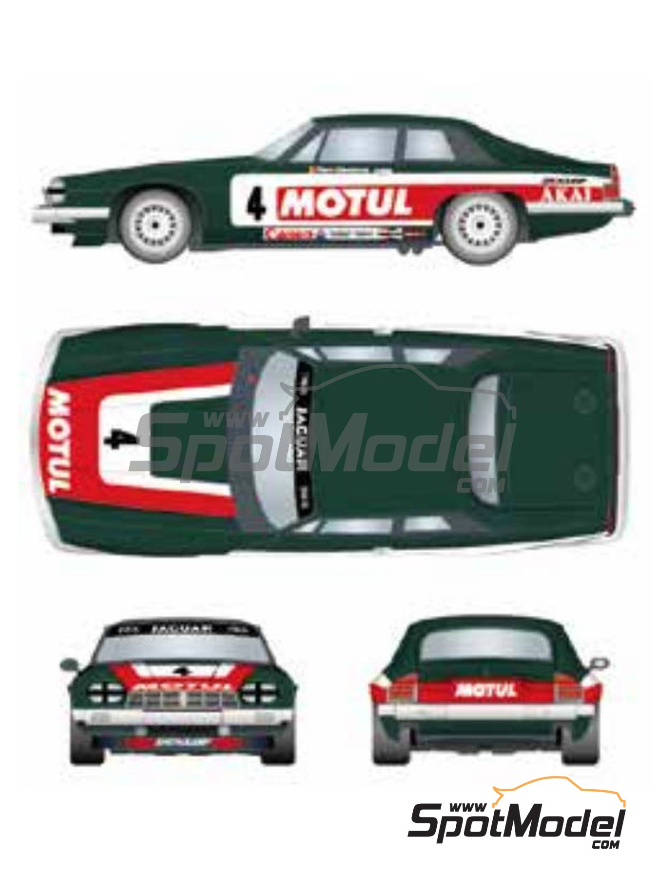Jaguar XJ-S Motul Akai - RAC Tourist Trophy 1982 | Marking / livery in 1/24 scale manufactured by Studio27 (ref. ST27-DC1201) image