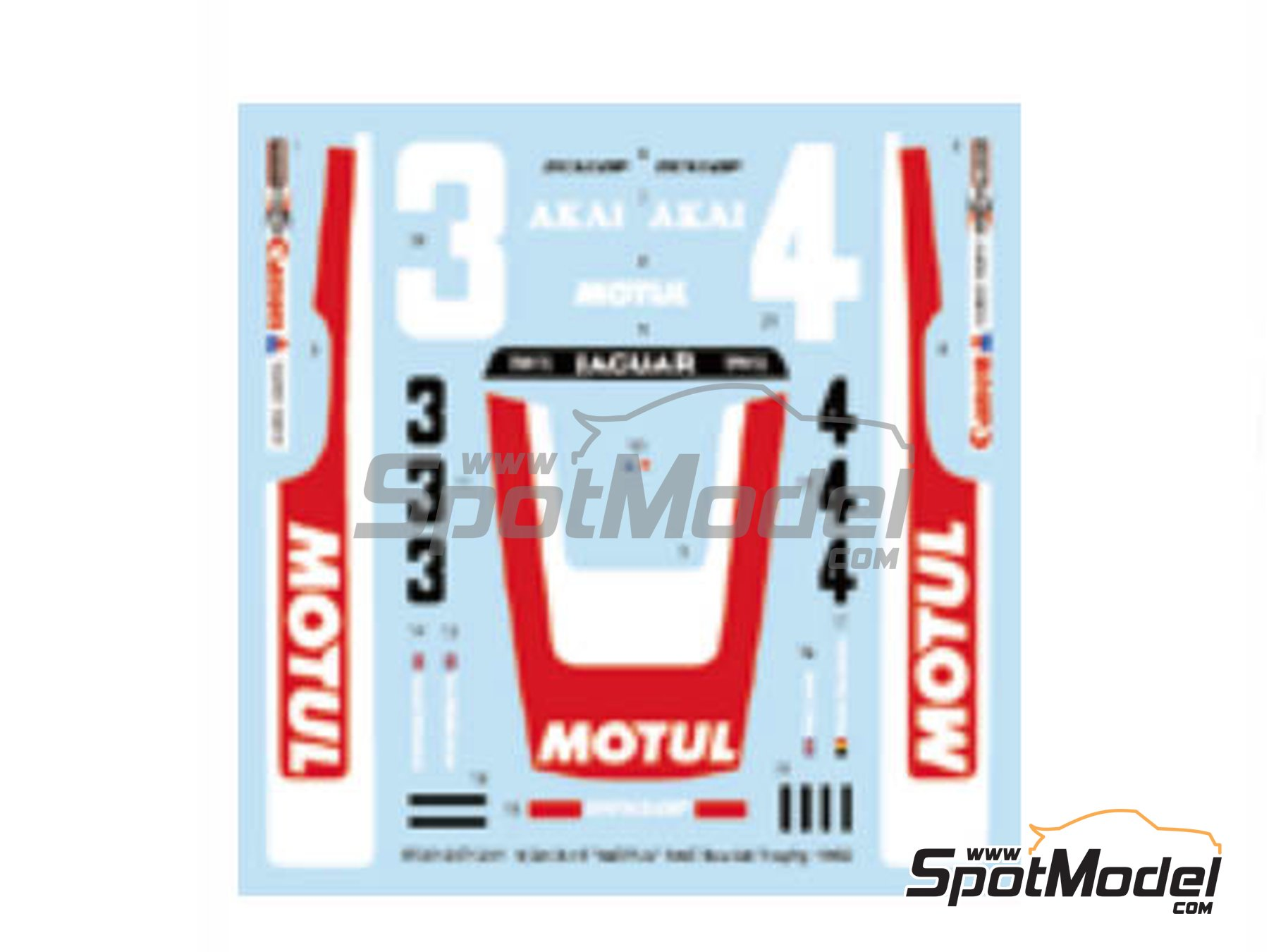 Image 1: Jaguar XJ-S Motul Akai - RAC Tourist Trophy 1982 | Marking / livery in 1/24 scale manufactured by Studio27 (ref. ST27-DC1201)