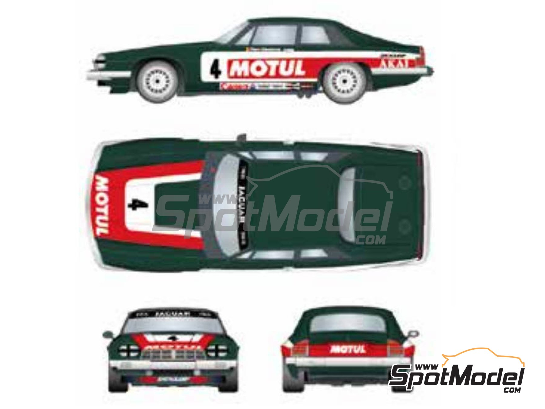 Image 2: Jaguar XJ-S Motul Akai - RAC Tourist Trophy 1982 | Marking / livery in 1/24 scale manufactured by Studio27 (ref. ST27-DC1201)
