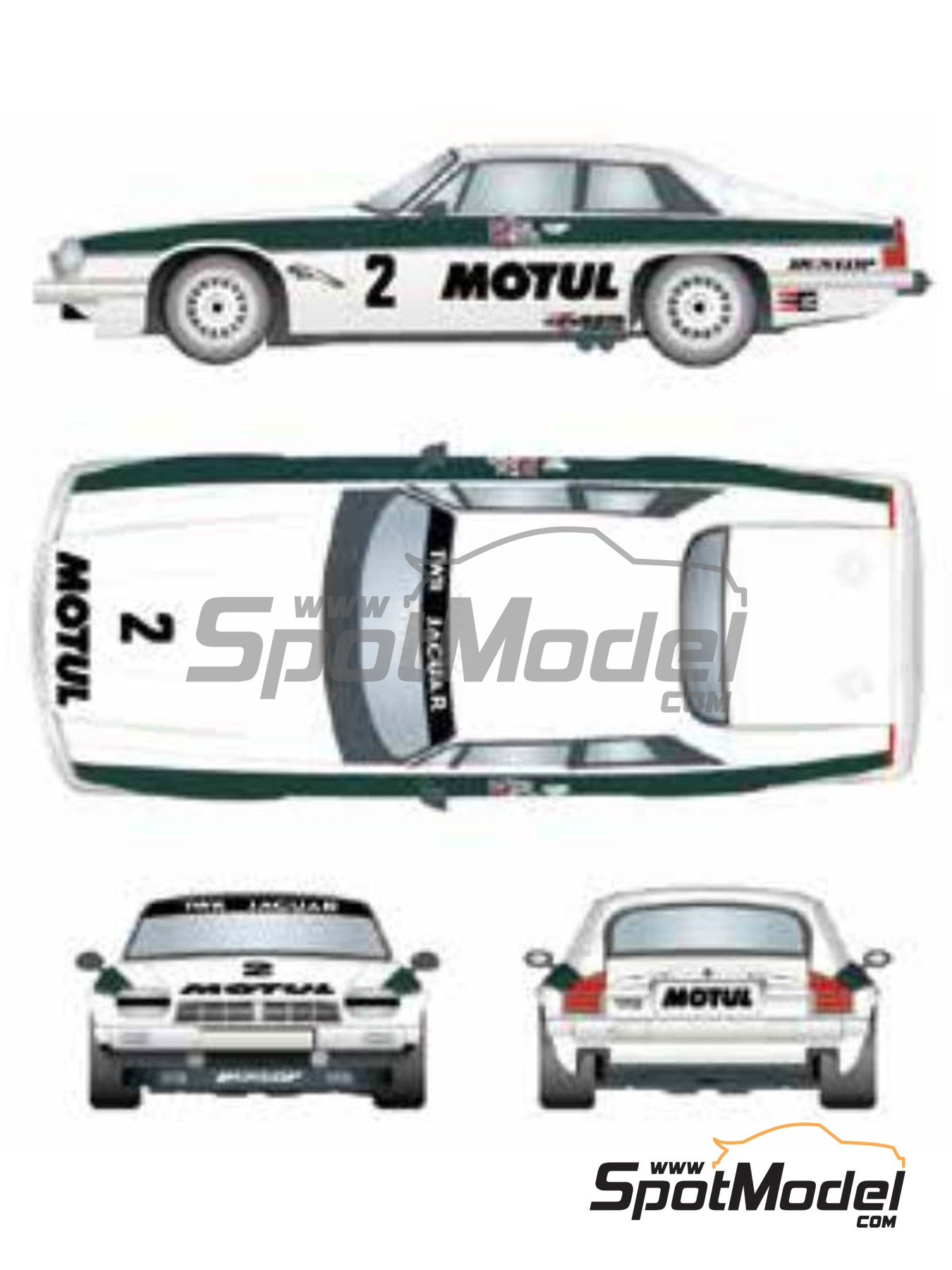 Jaguar XJ-S Motul TWR Jaguar Racing - Brno Formula 1 Grand Prix 1983 | Marking / livery in 1/24 scale manufactured by Studio27 (ref. ST27-DC1202) image
