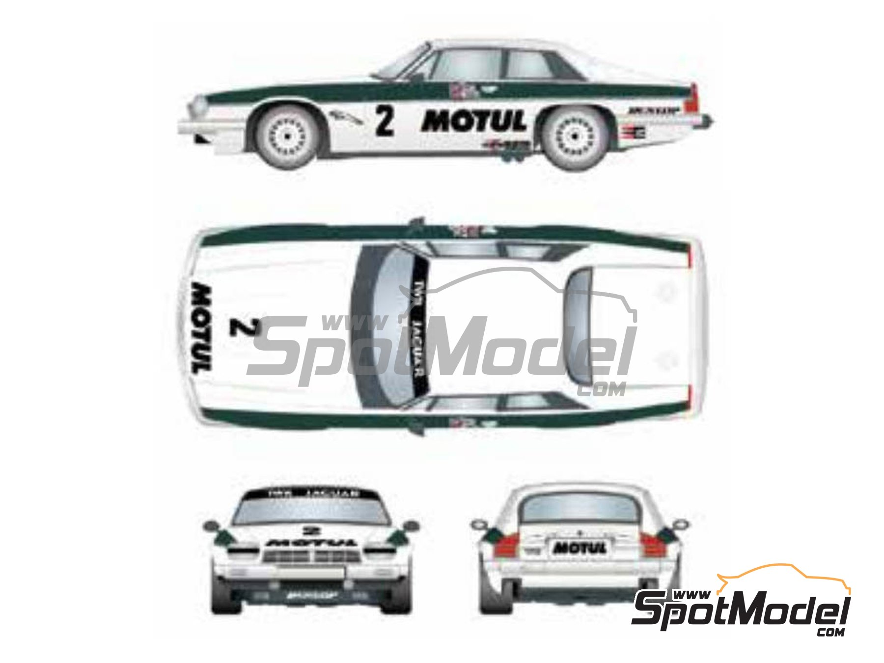 Image 1: Jaguar XJ-S Motul TWR Jaguar Racing - Brno Formula 1 Grand Prix 1983 | Marking / livery in 1/24 scale manufactured by Studio27 (ref. ST27-DC1202)