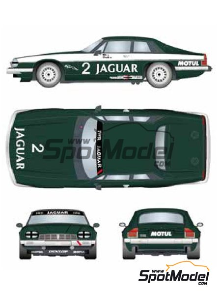 Jaguar XJ-S - Donington 500 Kilometres 1984 | Marking / livery in 1/24 scale manufactured by Studio27 (ref. ST27-DC1203) image