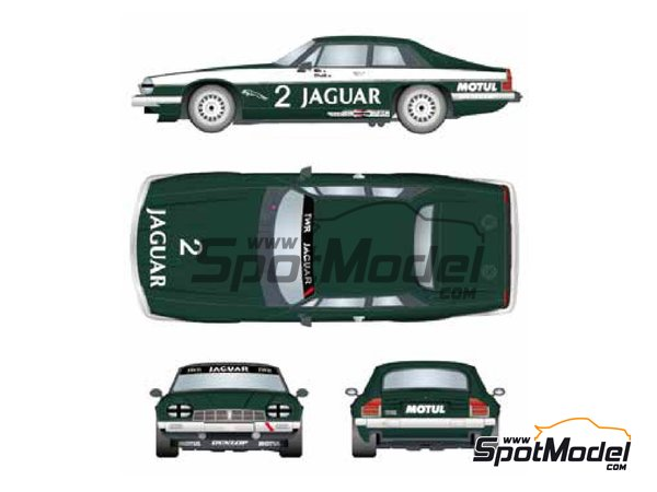 Image 1: Jaguar XJ-S Motul - Donington 500 Kilometres 1984 | Marking / livery in 1/24 scale manufactured by Studio27 (ref. ST27-DC1203)