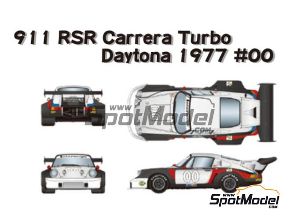 Image 1: Porsche 911 Carrera RSR Turbo - 24 Hours Daytona 1977 | Marking / livery in 1/24 scale manufactured by Studio27 (ref. ST27-DC1206)