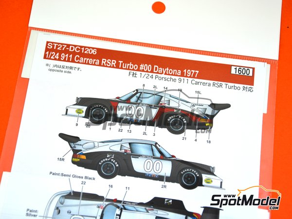 Image 4: Porsche 911 Carrera RSR Turbo - 24 Hours Daytona 1977 | Marking / livery in 1/24 scale manufactured by Studio27 (ref. ST27-DC1206)