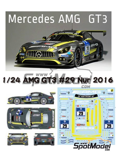 Mercedes AMG GT3 HTP Motorsport - 24 Hours Nürburgring 2016 | Marking / livery in 1/24 scale manufactured by Studio27 (ref. ST27-DC1209) image