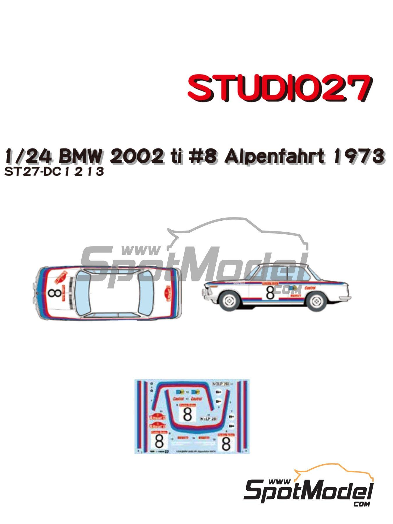 BMW 2002 tii Castrol - Österreichische Alpenfahrt 1973 | Marking / livery in 1/24 scale manufactured by Studio27 (ref.ST27-DC1213) image