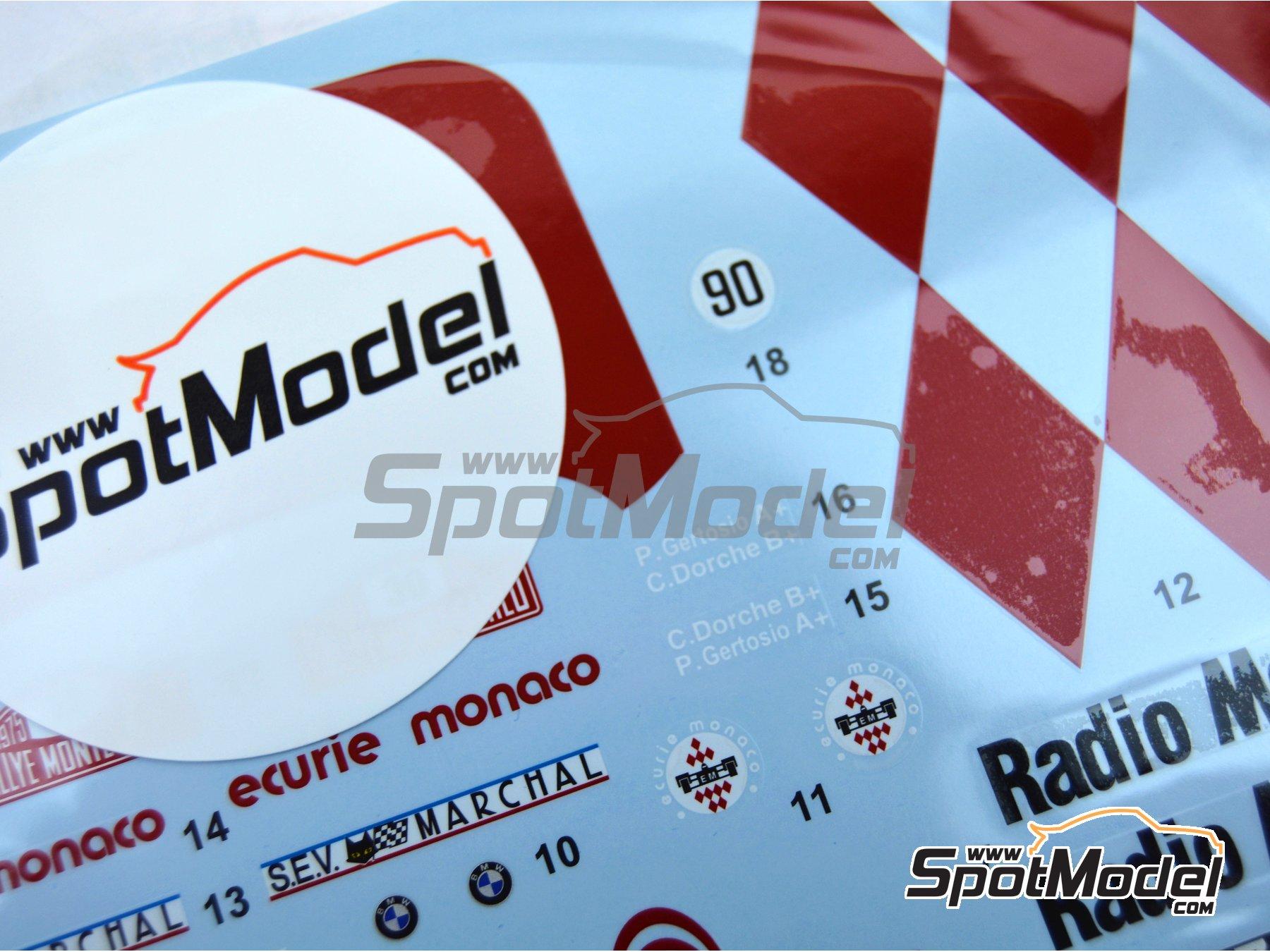 Image 5: BMW 2002 tii Radio Monte Carlo - Ecurie Alpes S'Geniez - Rally de Montecarlo - Rallye Automobile de Monte-Carlo 1975 | Decoración en escala1/24 fabricado por Studio27 (ref.ST27-DC1214)