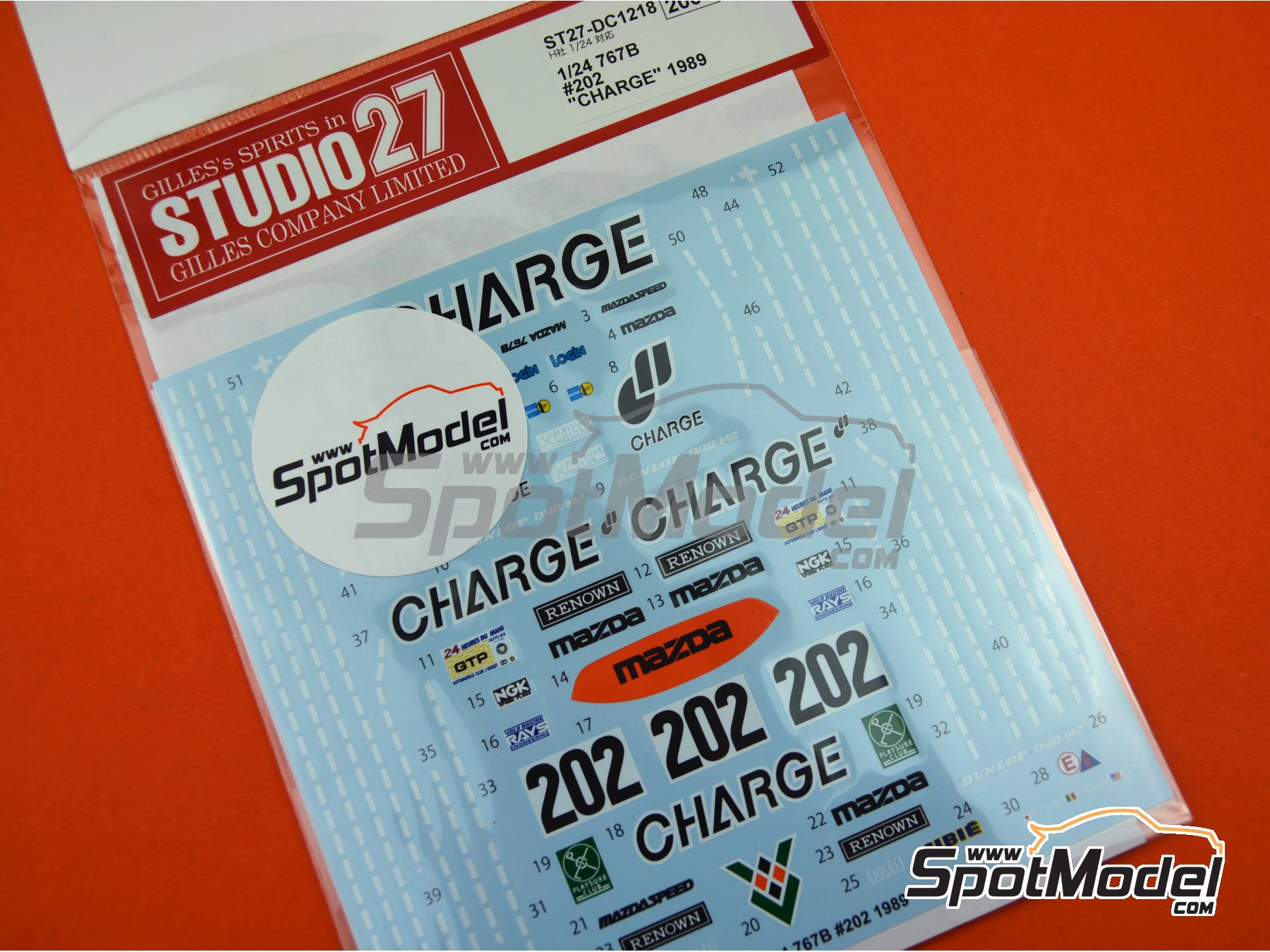 Image 5: Mazda 767B Charge - 24 Hours Le Mans 1989 | Marking / livery in 1/24 scale manufactured by Studio27 (ref.ST27-DC1218)