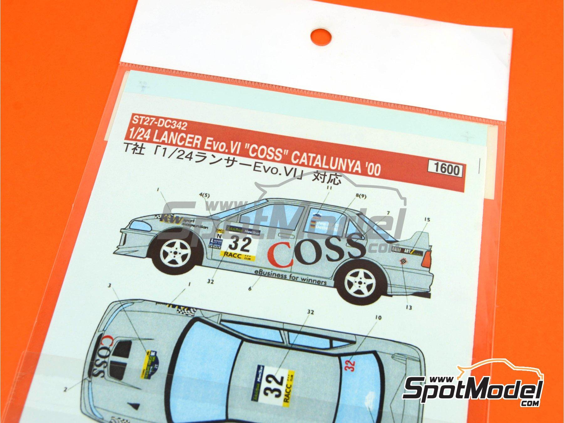 Image 1: Mitsubishi Lancer Evo VI WRC Coss - Rally de Cataluña Costa Dorada RACC 2000 | Calcas de agua en escala1/24 fabricado por Studio27 (ref.ST27-DC342)
